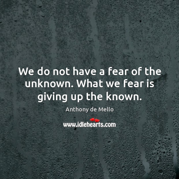 we-do-not-have-a-fear-of-the-unknown-what-we-fear-is-giving-up-the-known